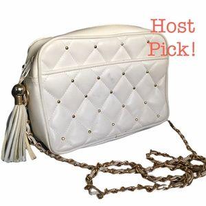 *hp 2x* Vtg Chateau Faux Leather Crossbody Bag